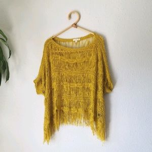 Knot Sister yellow sweater top